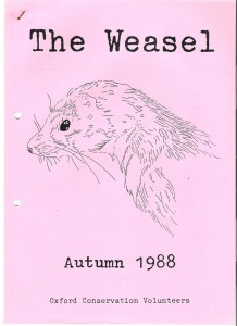 Weasel Cover Autumn 1988