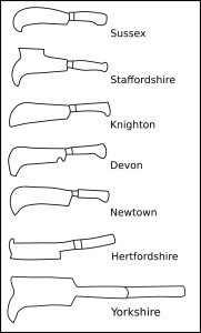 7 different patterns of billhook